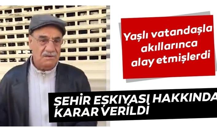 Yaşlı vatandaşın görüntülerini çekenlere Ankara 1. Sulh Ceza Hakimliği ceza verdi