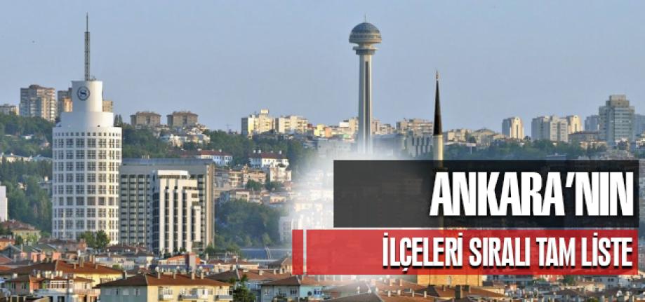 Ankara'nın İlçeleri ve Bilgileri