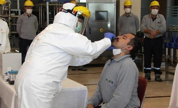 Ankara'da OSB çalışanlarına korona testi yapıldı