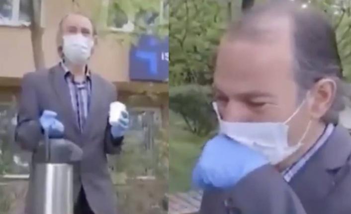İŞKUR önünde hem iş arayıp hem çay satan Yusuf Derin'e Mansur Yavaş'tan destek