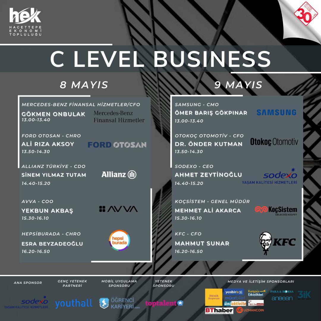 "HACETTEPE'DE  ''C LEVEL BUSINESS"" ZİRVESİ"