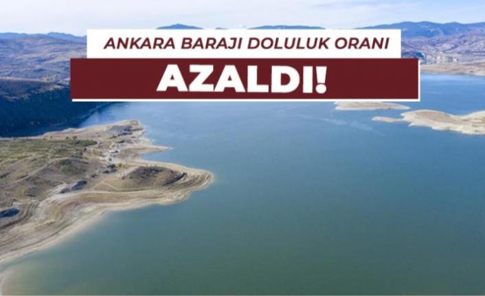 Ankara Barajlarında Oluşan Doluluk Oranı Geçen Yıla Göre Düşük Kaldı