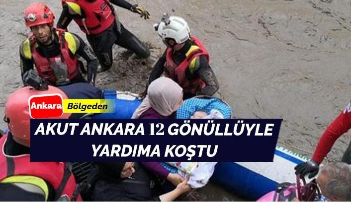 AKUT Ankara 12 gönüllü ile yardımda
