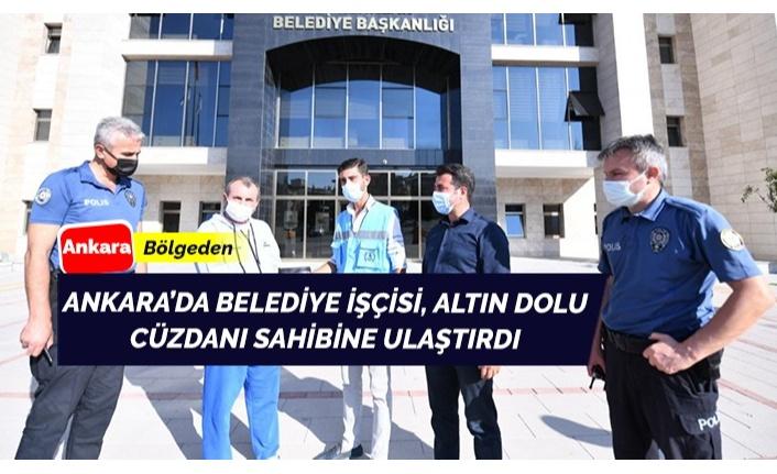Ankara'da belediye işçisinden insanlık dersi