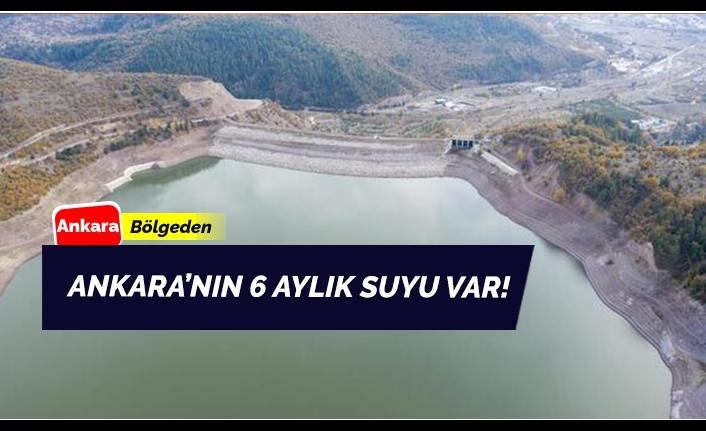 Ankara'nın 6 Aylık Suyu Bulunuyor