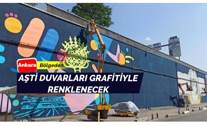 AŞTİ duvarlarına grafiti