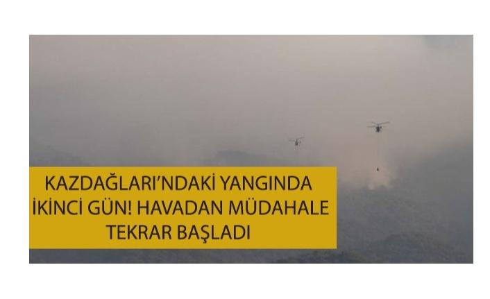 Kazdağları'nda meydana gelen yangın ikinci gününde kontrol altında!