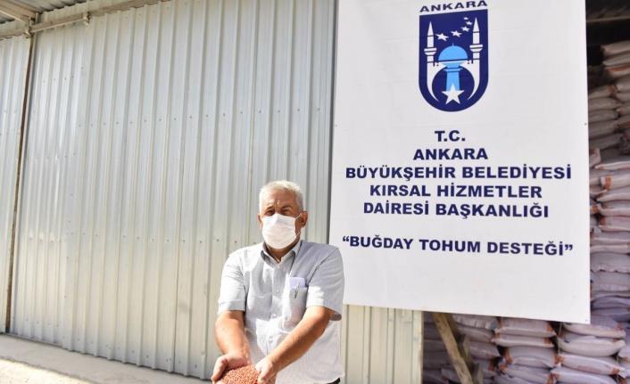 Ankara Büyükşehir Belediyesi'nden Arpa ve Buğday Tohumu