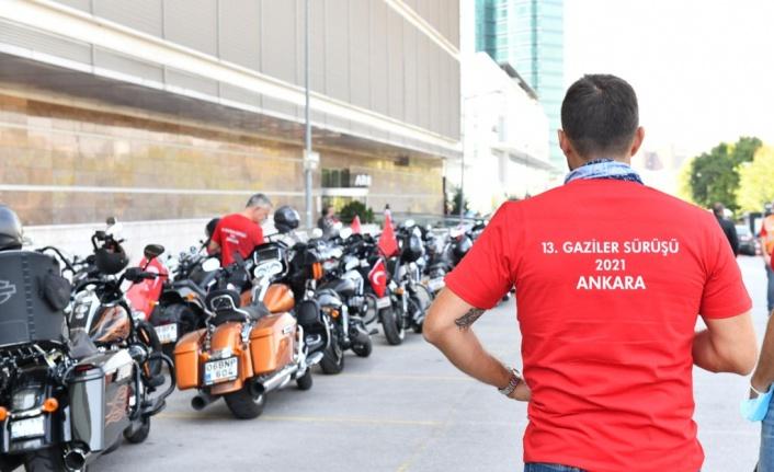 Gaziler için motosiklet turu