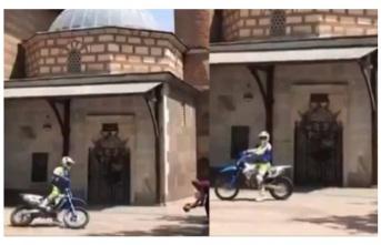 Ankara Valiliği'nden Hacı Bayram Veli Türbesi önünde motosikletle drift için açıklama