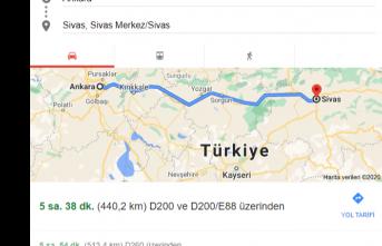 Ankara Sivas arası kaç km? Kaç saat de gidilir?