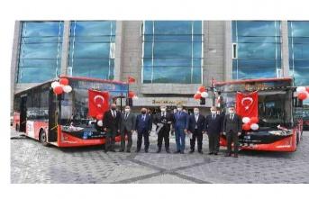 Ankara'nın yeni 51 otobüsü yollara çıktı