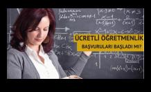 Ücretli Öğretmenlik Başvuruları Başladı Mı, Ne Zaman Başlayacak? E- Devlet Ücretli Öğretmenlik Başvuru Ekranı