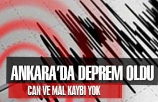 Ankara'da deprem oldu! 10 Ocak 2021 Merkez üstü...