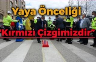 """Başkentte """"Yaya Önceliği Kırmızı Çizgimizdir""""..."""