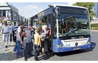 Ankara'da sokağa çıkma yasağında toplu taşıma...