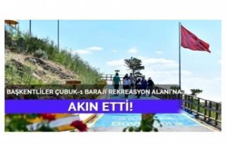 Ankara'da Cubuk-1 Barajı Rekreasyon Alanı Büyük...