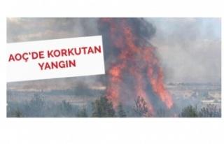 AOÇ'de Yangından Dolayı Korkulu Anlar