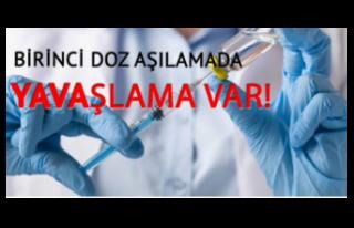 Birinci Doz Aşıların Uygulanmasına Yavaşlama...