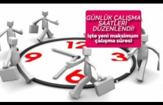 Günlük Çalışma Saatlerine Yeni Düzenleme: Yeni...