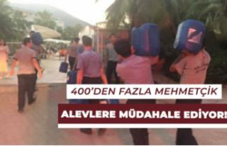 400'den Fazla Mehmetçiğimizin Alevlere Müdahalesi...