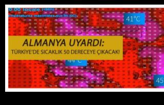 Almanya'dan uyarı: Türkiye'de sıcaklık 50...
