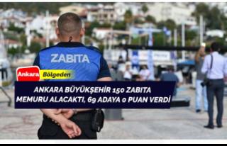 Ankara Büyükşehir Belediyesi 69 Zabıta Adayına...