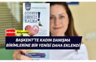 Ankara'da yeni bir kadın danışma hizmeti daha