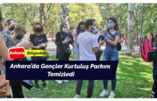 Başkentte Gençler Kurtuluş Parkını Temizledi