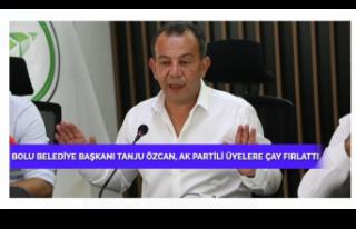 Bolu Belediye Başkanı Tanju Özcan, AK Partili üyelere...