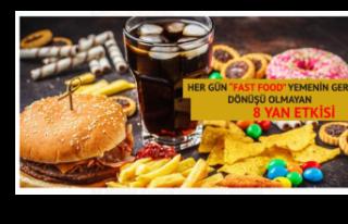 Her Gün 'Fast Food' Yiyorsanız Geri Dönüşü...