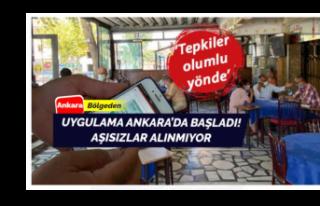 İlk uygulama Ankara'da başladı! Aşısızlar...