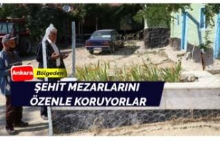 Şehit mezarlarını dikkatle koruyorlar