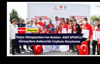 Sporcularımıza Ankara'da Coşkulu Karşılama