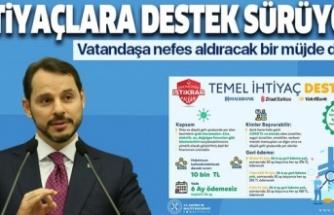 """Hazine ve Maliye Bakanı Berat Albayrak'tan """"Temel İhtiyaç Desteği""""ne ilişkin açıklama"""
