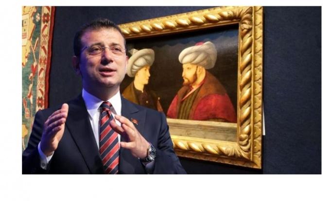 """İmamoğlu, Fatih tablosuna verilen 6,5 milyon liraya """"israf"""" eleştirisi yapanlara TRT dizisine yapılan ödemeyle karşılık verdi"""