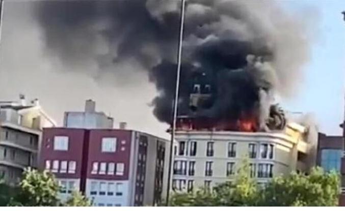 Ankara'da ürküten otel yangını!
