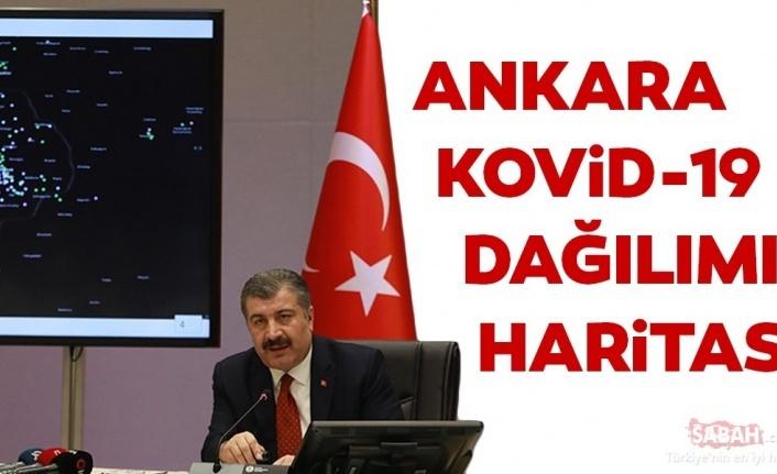 Ankara ve ilçelerinde koronavirüs dağılımı