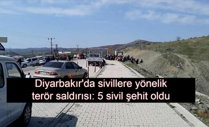 Terör örgütü PKK'dan  Diyarbakır Kulp alçak saldırı: 5 şehit
